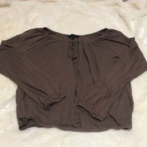 Very soft Express Brown Shirt Size Small